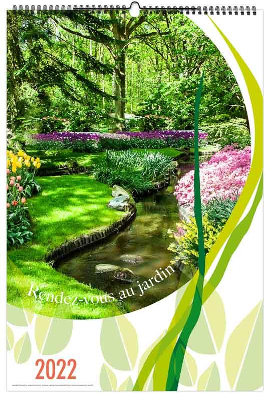 calendrier publicitaire mural photographies rendez vous au jardin