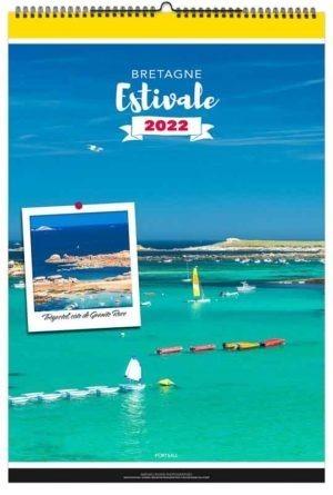 calendrier publicitaire mural Bretagne estivale
