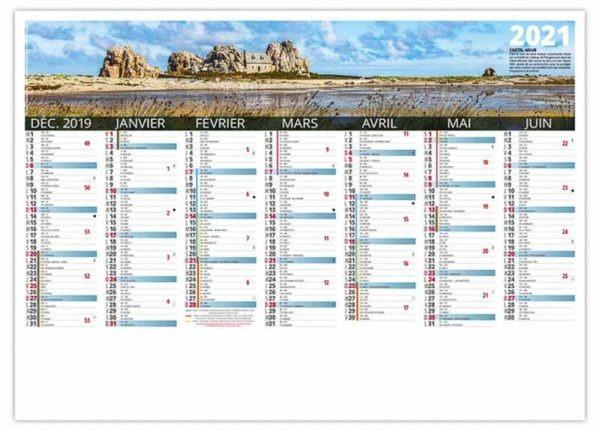 calendrier bancaire panoramiques de la Bretagne