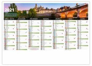 calendrier publicitaire photo de la Dordogne