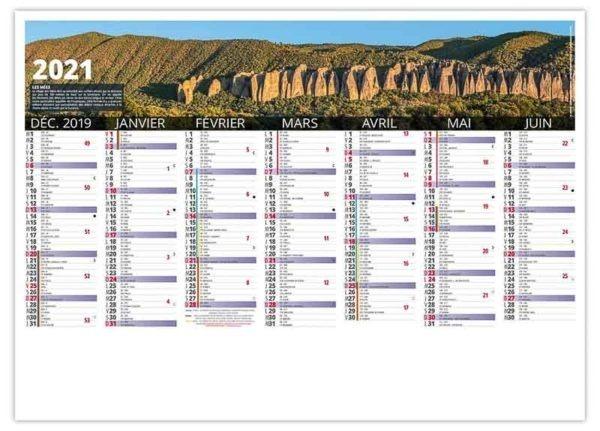 calendrier cartonné entreprise Haute Provnce