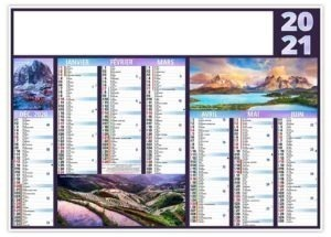 Calendrier pour entreprises photos de voyages dans le monde