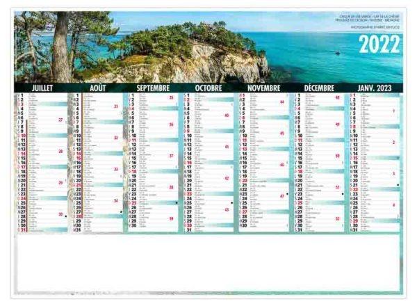 calendrier bancaire d'entreprise bretagne 7 mois