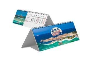 calendrier chevalet de bureau caraïbes bretonnes 13 feuillets