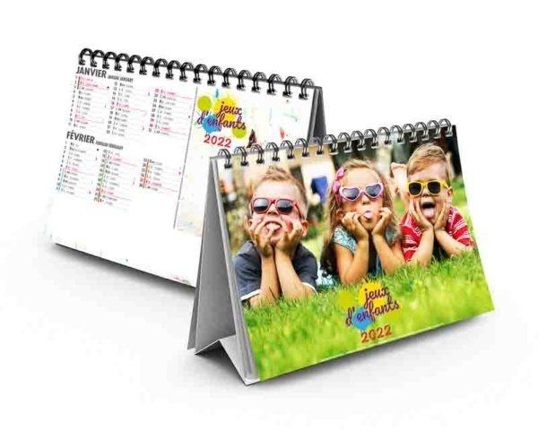 calendrier publicitaire chevalet jeux d'enfants 7 feuillets