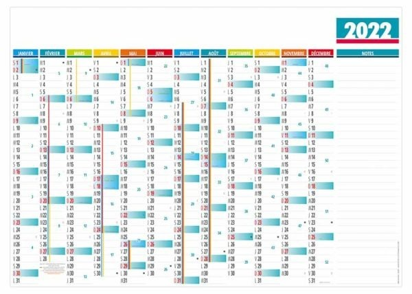 calendrier-publictaire-bancaire-planning-mural-effaçable-12-mois-basique-notes-2022