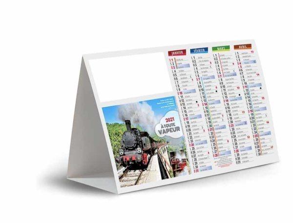 Calendriers de comptoir trains à vapeur