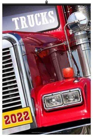 calendrier publicitaire mural camions américains 7 feuilles