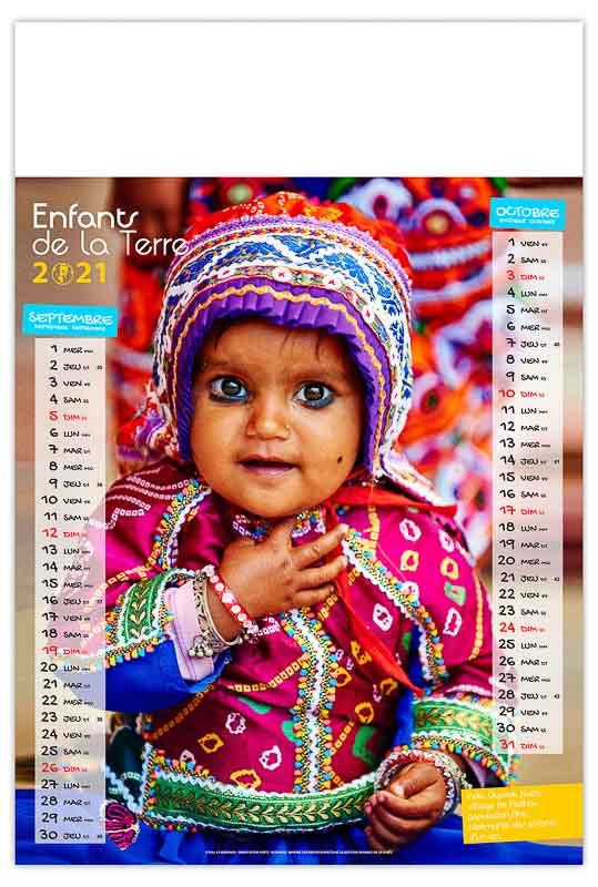 calendrier-publicitaire-mural-illustre-feuilles-enfants-de-la-terre-septembre-octobre
