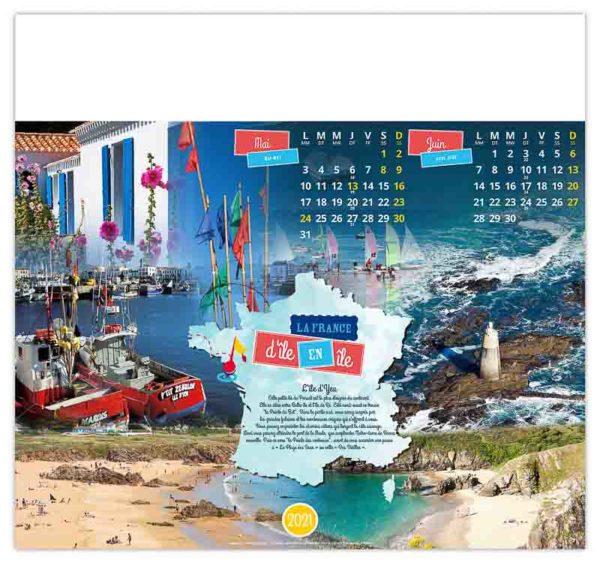 calendrier-entreprise-publicitaire-mural-illustre-7-feuilles-la-france-d-ile-d'-yeu-juin-2021