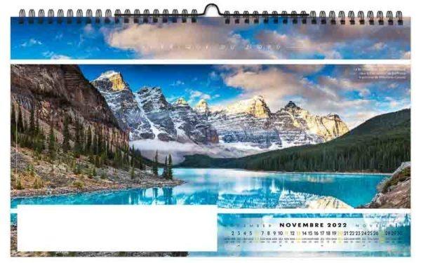calendrier mural illustre lac montgne canada