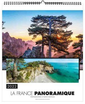 Calendrier publicitaire mural illustré photographies panoramique de la France