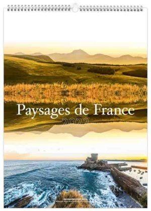 calendrier publicitaire mural paysages de la France