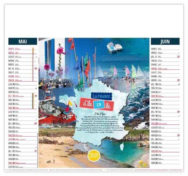 calendrier-entreprise-publicitaire-pas-cher-illustre-bretagne-île-d-yeu