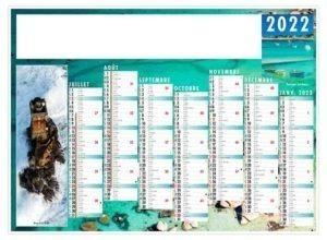 calendrier publictaire de banque pour entreprise côte bretonne